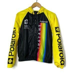 Polaroid Black & Yellow Graphic Windbreaker Jacket